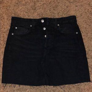 Black h&m jean skirt size 6 worn once